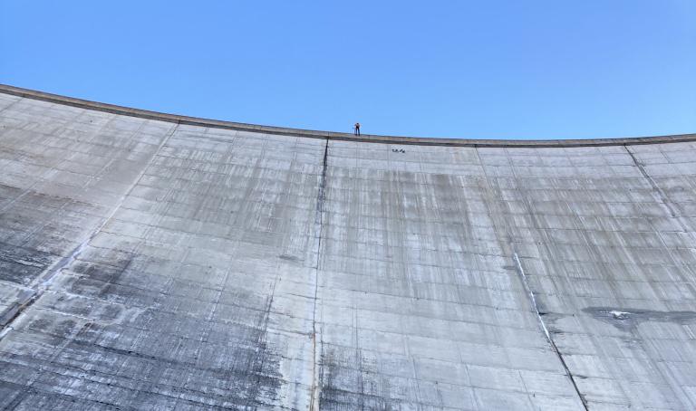 Abseilen an der Lukmanierstaumauer – Outdoorweekend FS 2020
